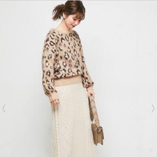 ナチュラルクチュール(natural couture)のレオパード柄✩.*˚ナチュラルクチュール(ニット/セーター)
