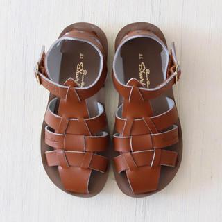 Caramel baby&child  - 新品未使用 saltwater ソルトウォーター サンダル tan 子供 靴