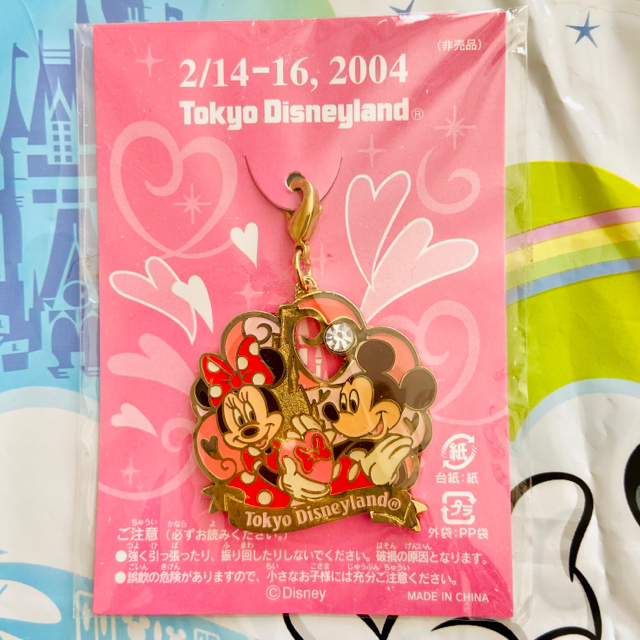 Disney(ディズニー)の《非売品》ディズニーランド♡バレンタインチャーム エンタメ/ホビーのコレクション(ノベルティグッズ)の商品写真
