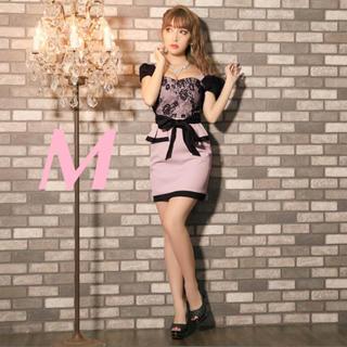 デイジーストア(dazzy store)のあんこ様お取置き ペプラム キャバドレス  M  ピンク 完売品  1回のみ使用(ミニドレス)