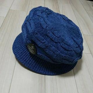 ヴィヴィアンウエストウッド(Vivienne Westwood)の青色 ヴィヴィアン キャスケット 帽子 ハット ブルー(キャスケット)