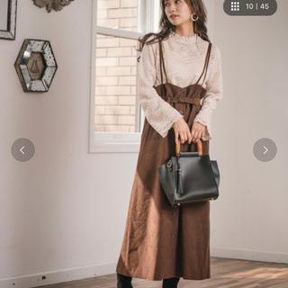 mysty woman - 前ボタンナロージャンパースカートスカート