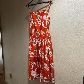 ハワイアン ワンピース☆ Sサイズ(ひざ丈ワンピース)