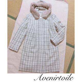 Aveniretoile - アヴェニールエトワール ファー付きツイードジャケット