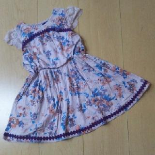 ANNA SUI mini - ANNA SUI mini 花柄ワンピース 90センチ