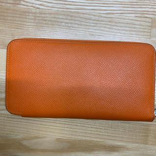 エルメス(Hermes)の美品 エルメス アザップシルクイン オレンジ(財布)