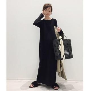 アパルトモンドゥーズィエムクラス(L'Appartement DEUXIEME CLASSE)のアパルトモン☆Rib Knit ワンピース 新品ブラック(その他)