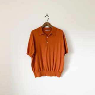 ロンハーマン(Ron Herman)のオーラリー コットン ポロシャツ ブラウンオレンジ 1 (ポロシャツ)