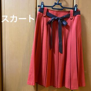 冬物スカート ウール (プリーツ)(ひざ丈スカート)