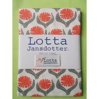 リサラーソン(Lisa Larson)のLotta Jansdotter 手芸用生地 DRIVA ピンク花(生地/糸)