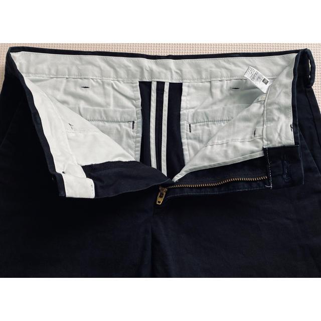 GU(ジーユー)のGU ジーユー 黒パンツ ボトム メンズ ウエスト73 ストレッチ メンズのパンツ(スラックス)の商品写真
