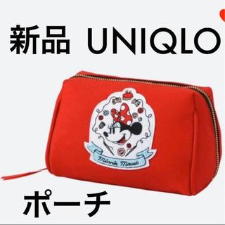 ユニクロ(UNIQLO)の新品 UNIQLO ユニクロ ディズニー ミニー ポーチ 化粧ポーチ 小物入れ(ポーチ)