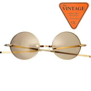 SALE!丸メガネ未使用デッド60sビンテージ アメリカ逆輸入ラウンドサングラス(サングラス/メガネ)