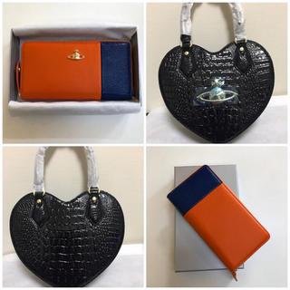 ヴィヴィアンウエストウッド(Vivienne Westwood)の【新品•正規品】ヴィヴィアンウエストウッド バッグ&長財布オレンジ×ブルーセット(財布)