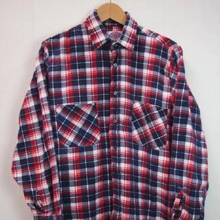 ディッキーズ(Dickies)の実寸L 90s JUNK オールド Dickies ネルシャツ 古着 a275(シャツ)