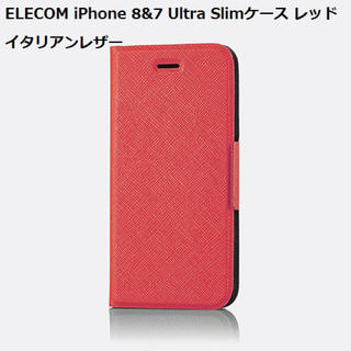 ELECOM - ELECOM iPhone 8&7 Ultra Slimケース レッド