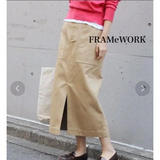 FRAMeWORK - 【Dickies×FRAMeWORK】タイトスカートベージュ38 チノスカート