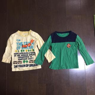ニシマツヤ(西松屋)の子ども用 長袖シャツ 95cm 2枚(Tシャツ/カットソー)