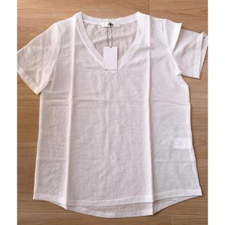 アンティローザ(Auntie Rosa)の☆未使用品☆シャリシャ接触冷感ディープVカットシャツ(Tシャツ(半袖/袖なし))