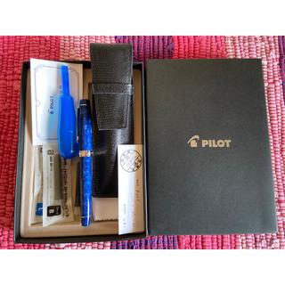 パイロット(PILOT)の激レア 廃盤 パイロット カスタム レガンス 14K-585 ブルー 万年筆 (ペン/マーカー)