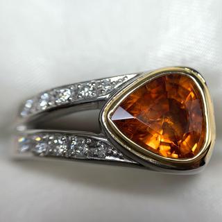 カラッチ プラチナ ガーネット ダイヤモンド リング(リング(指輪))