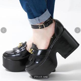 ウィゴー(WEGO)の★ウィゴー★WEGO★黒★ビット付きセパレートシューズ★ブラック★(ローファー/革靴)