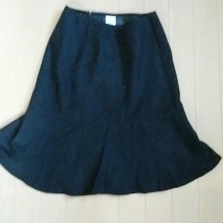 スカート 黒(ひざ丈スカート)