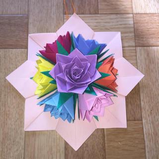 折り紙 バラの壁掛け(その他)