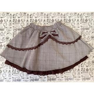 axes femme - 新品 axes kids ♪  グレンチェック 2段フリル スカート 120