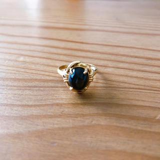ブラックスピネル リング/k18(リング(指輪))