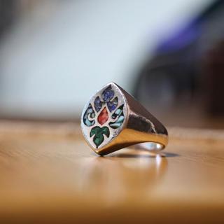 マライカ(MALAIKA)のインディアンジュエリー インレイ シルバーリング 9.5号(リング(指輪))
