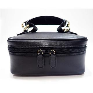 Gucci - グッチ バニティバッグ 0141 ブラックカーフ