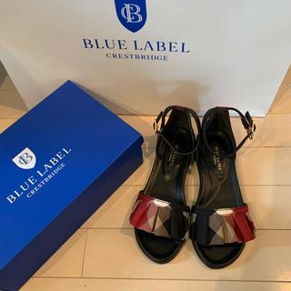 バーバリーブルーレーベル(BURBERRY BLUE LABEL)の新品 ブルーレーベル クレストブリッジ フリルサンダル(サンダル)