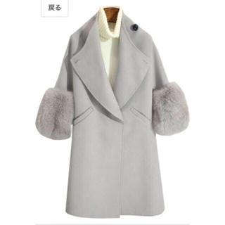 dholic - 【最終価格】オルチャンファッション 袖ファーグレーコート