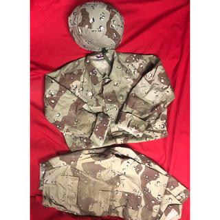 米軍 TRU-SPEC チョコチップ デザートカモ迷彩 上下セット ヘルメット(戦闘服)