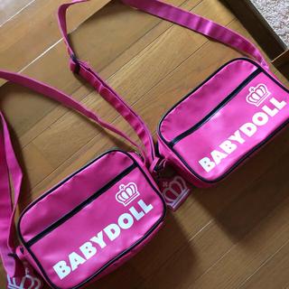 ベビードール(BABYDOLL)のベビードール 通園バッグ ピンク 2つセット(通園バッグ)