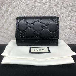 Gucci - ★グッチ★グッチシマ★6連キーケース★レザー★黒★ブラック★138098