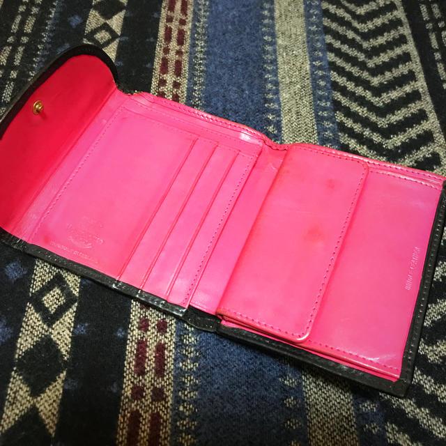 WHITEHOUSE COX(ホワイトハウスコックス)のホワイトハウスコックス ブライドルレザー三つ折り財布 ネイビー×ピンク メンズのファッション小物(折り財布)の商品写真