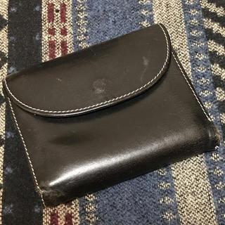 ホワイトハウスコックス(WHITEHOUSE COX)のホワイトハウスコックス ブライドルレザー三つ折り財布 ネイビー×ピンク(折り財布)