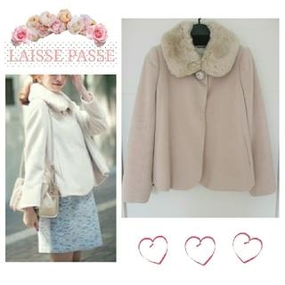 レッセパッセ(LAISSE PASSE)の【最終値下げ★】Backリボンファー衿ショートコート♡(毛皮/ファーコート)