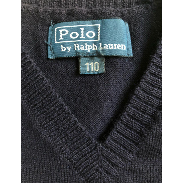 POLO RALPH LAUREN(ポロラルフローレン)のラルフローレン ベスト 110サイズ ネイビー キッズ/ベビー/マタニティのキッズ服男の子用(90cm~)(ニット)の商品写真