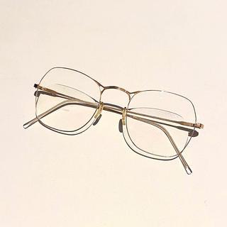 マルタンマルジェラ(Maison Martin Margiela)のMaison Martin Margiela 眼鏡 ピンクゴールド マルジェラ(サングラス/メガネ)