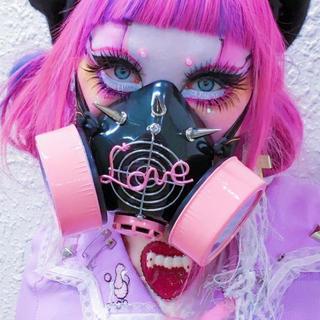 ガスマスク ピンク 病みかわいい サブカル (小道具)