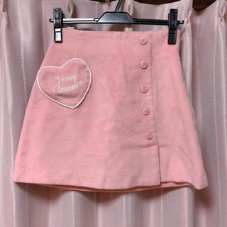 ハニーシナモン(Honey Cinnamon)のHoney Cinnamon ハートラップ風スカート F pk(ミニスカート)