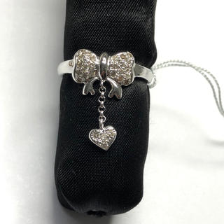 K18WG リング ダイヤモンド 0.25ct AANI アニ(リング(指輪))
