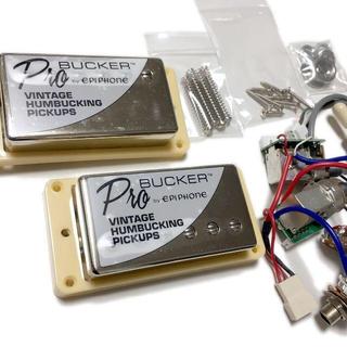 エピフォン(Epiphone)のEpiphone ProBucker 2・3 & 配線済みハーネスセットクリーム(エレキギター)