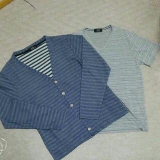 しまむら - メンズカーディガン+Tシャツ2点セット