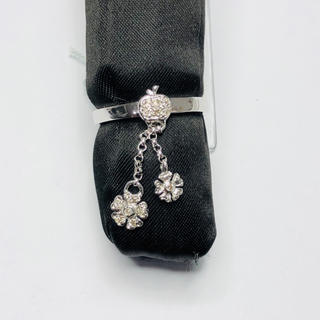 K18WG リング ダイヤモンド 0.10ct AANI アニ(リング(指輪))