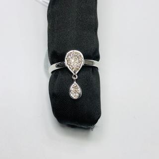 K18WG リング ダイヤモンド 0.17ct AANI アニ(リング(指輪))