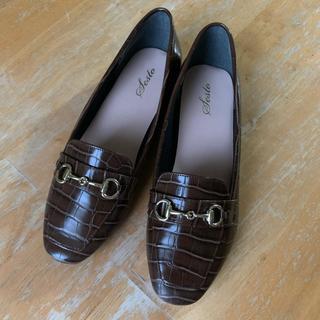 エナメル ローファー パンプス(ローファー/革靴)